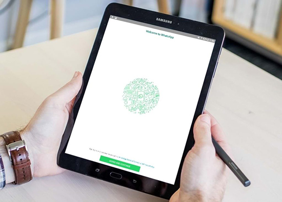 Скачивание и установка WhatsApp на планшет Samsung Tab