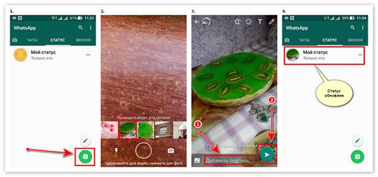 Добавление, замена, удаление и сохранение фото со статуса в WhatsApp