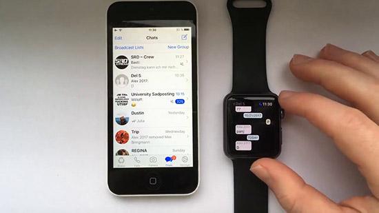Установка, подключение и настройка WhatsApp на Apple iWatch Series 3
