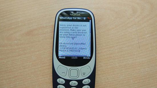 Есть ли WhatsApp на телефоне Nokia 3310 2017 года
