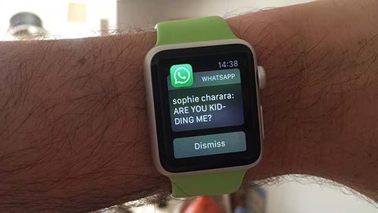 Почему Ватсап не работает на Apple Watch