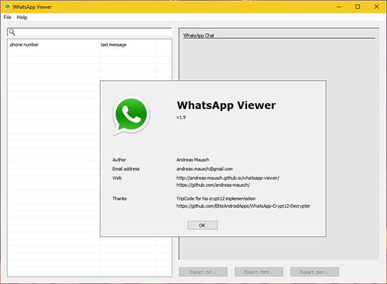 Как пользоваться Whatsapp Viewer для Crypt 12