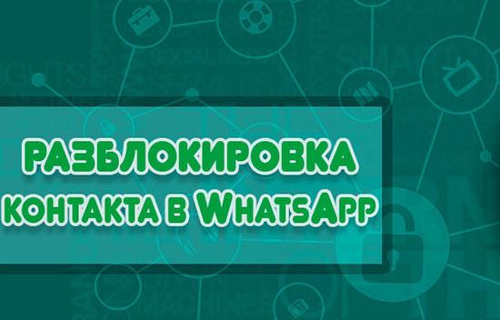 Способы снять блокировку с контакта в WhatsApp