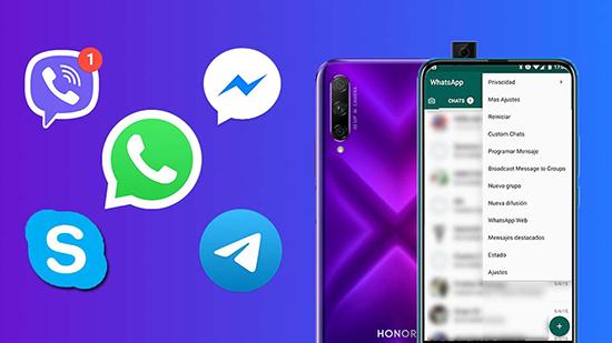 Как на телефоне Honor Huawei сохранять картинки в галерею из WhatsApp