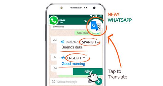 Как включить переводчик сообщений в WhatsApp