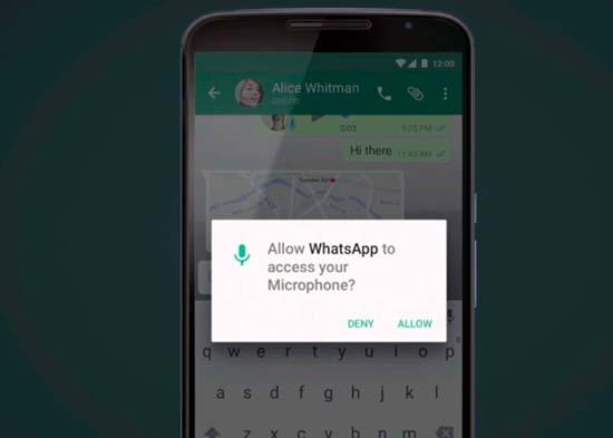 Инструкция по настройке микрофона в WhatsApp