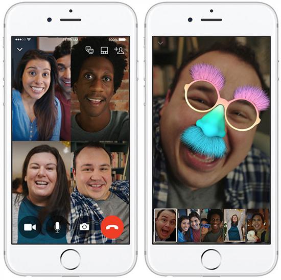 Использование фильтров и масок для видеозвонков WhatsApp