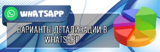 Можно ли сделать распечатку детализации WhatsApp по номеру