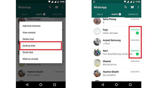 Где находится архив в WhatsApp и что он значит