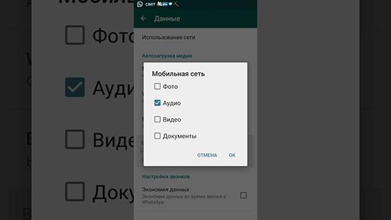 Как выключить автоматическую загрузку медиафайлов в WhatsApp