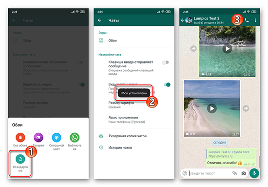 Как изменить фон в WhatsApp на iPhone и Android