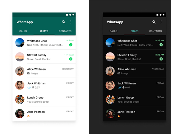 Как включить черную тему в WhatsApp на телефоне