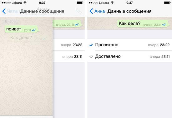 Как понять что в WhatsApp прочитали сообщение