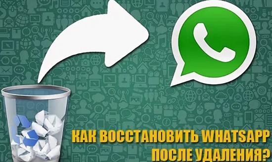 Восстановление WhatsApp с телефона после удаления