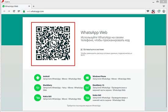 В WhatsApp Web не сканируется QR код телефоном